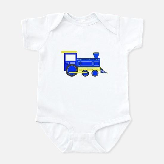 Blue Train Infant Bodysuit