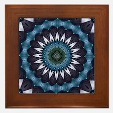Blue mandala Framed Tile