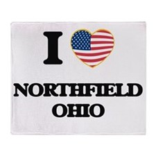 I love Northfield Ohio Throw Blanket