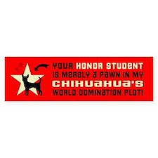 Chihuahua Honor Student Bumper Bumper Sticker