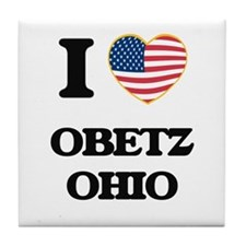 I love Obetz Ohio Tile Coaster