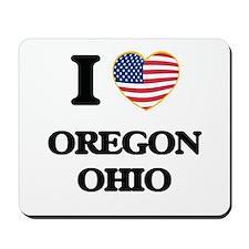 I love Oregon Ohio Mousepad