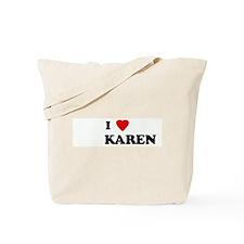 I Love           KAREN  Tote Bag