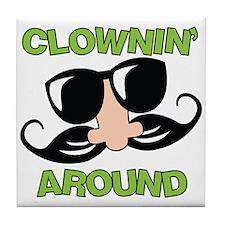 Clownin Around Tile Coaster