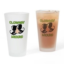 Clownin Around Drinking Glass