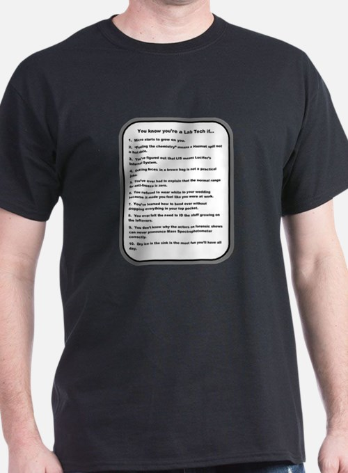 You Know Youre a Lab Tech if... T-Shirt