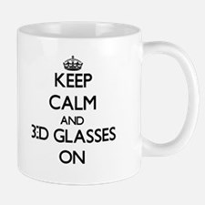 Keep Calm and 3-D Glasses ON Mugs