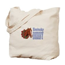Horse Wreath Kentucky Derby Tote Bag