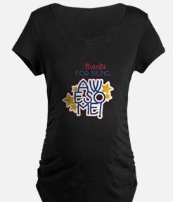 Being Awesome Maternity T-Shirt