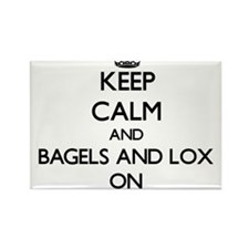 Keep Calm and Bagels And Lox ON Magnets