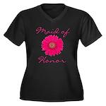 Maid of Honor Women's Plus Size V-Neck Dark T-Shir