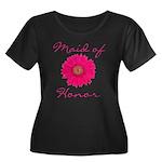 Maid of Honor Women's Plus Size Scoop Neck Dark T-