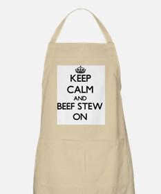 Keep Calm and Beef Stew ON Apron