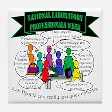 Lab Team Humor Tile Coaster