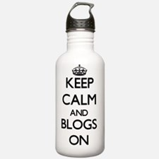 Keep Calm and Blogs ON Water Bottle
