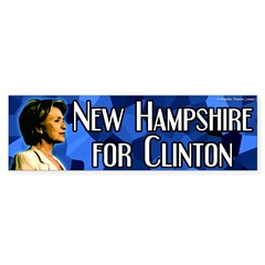 Blue New Hampshire for Clinton bumpersticker