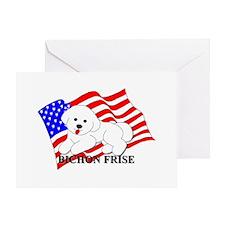 Bichon Frise USA Greeting Card