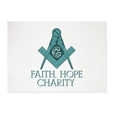 Freemason Square & Compass Faith Hope Charity 5'x7