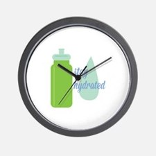 Stay Hydrated Wall Clock