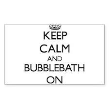 Keep Calm and Bubblebath ON Decal