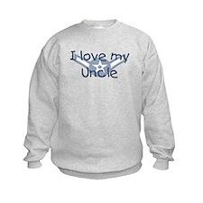E2 USAF I love my uncle blue Sweatshirt