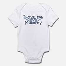 E2 USAF i love my mommy blue Infant Bodysuit