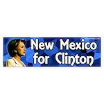 New Mexico for Clinton bumper sticker