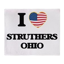 I love Struthers Ohio Throw Blanket
