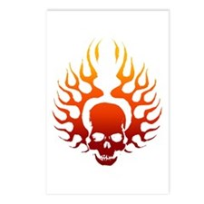 Flaming Skull tattoo Postcards (Package of 8)