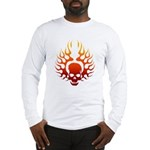 Flaming Skull tattoo Long Sleeve T-Shirt