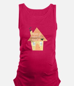 Where Heart Is Maternity Tank Top