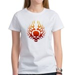Flaming Skull tattoo Women's T-Shirt