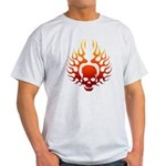 Flaming Skull tattoo Light T-Shirt