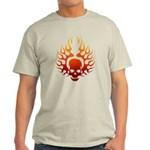 Flaming Skull tattoo Light T-Shirt