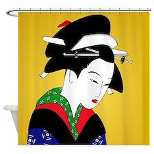 Geisha Girl Japanese Art Shower Curtain