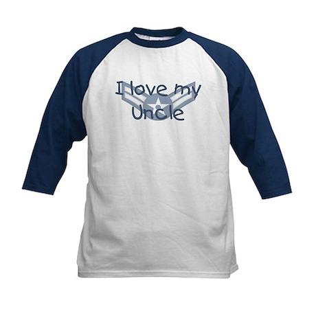 E3 USAF I love my uncle blue Kids Baseball Jersey