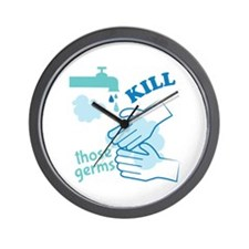 Kill Germs Wall Clock