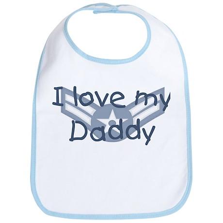 E3 USAF I love my daddy blue Bib