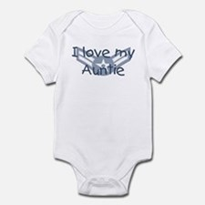 E3 USAF I love my auntie blue Infant Bodysuit
