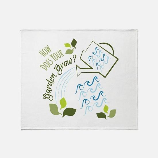 Your Garden Grow Throw Blanket