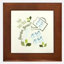 Your Garden Grow Framed Tile