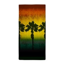 Vintage Palm Trees Beach Towel