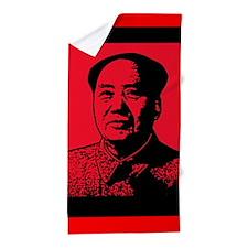 Red Chinese Chairman Mao Beach Towel