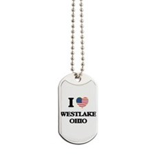 I love Westlake Ohio Dog Tags