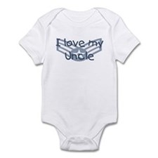E4 USAF I love my uncle blue Infant Bodysuit