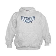 E4 USAF I love my uncle blue Hoodie