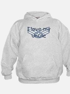 E4 USAF I love my uncle blue Hoodie