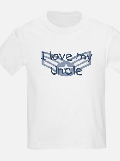 E4 USAF I love my uncle blue T-Shirt