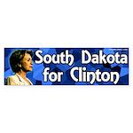 South Dakota for Clinton bumper sticker