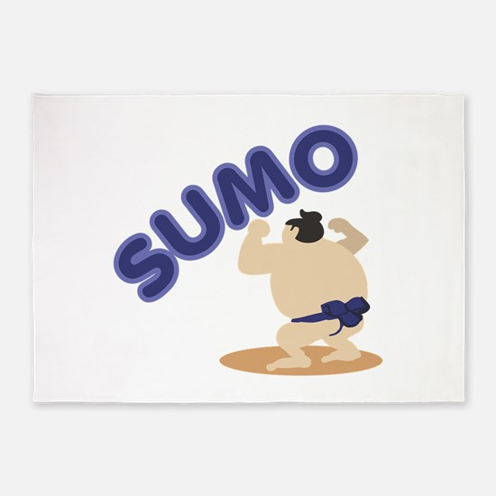 Sumo Wrestler Sumo 5'x7'Area Rug